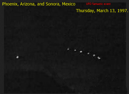 7. 1997: The Phoenix Lights are reportedly seen by thousands.