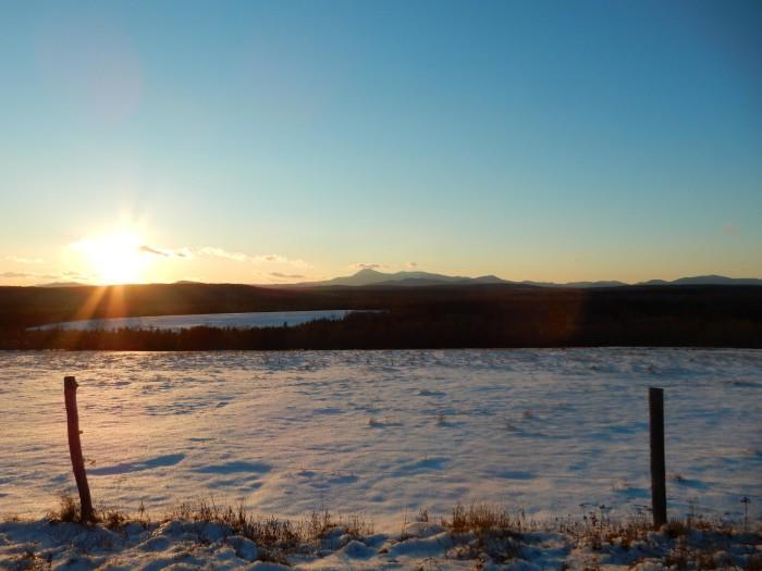 17. And, one last look towards a snowy Katahdin.