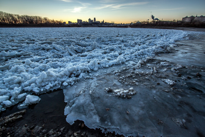 12. Winter at Kaw Point.