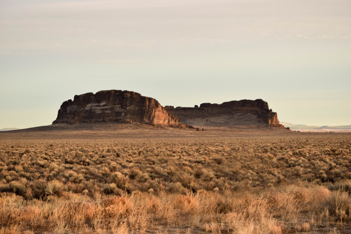 3. The otherworldly Fort Rock by Jon Nelson.