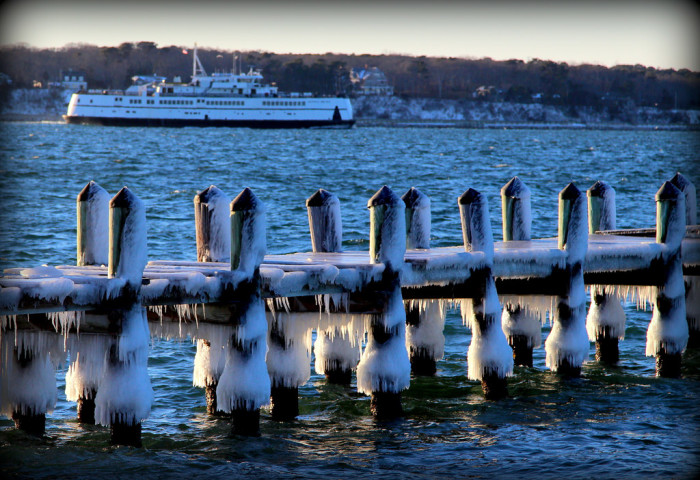 10. A cold and beautiful morning in Vineyard Haven.