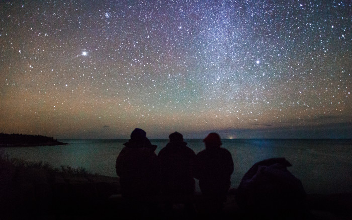 5. Friends enjoying the galactic view in Acadia National Park.