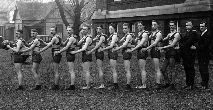 10. This is a picture of the Crawfordsville High School basketball team from 1923.