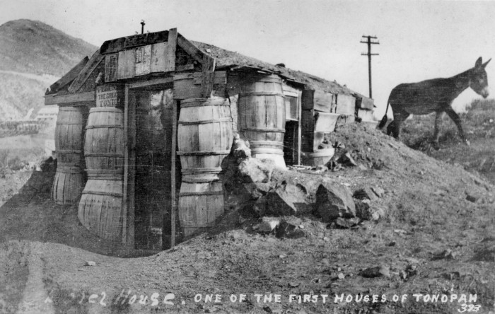 3. The Barrel House - one of the first houses built in Tonopah, Nevada. This house is believed to have been built before the 1940s. (ca.1910-1939?)
