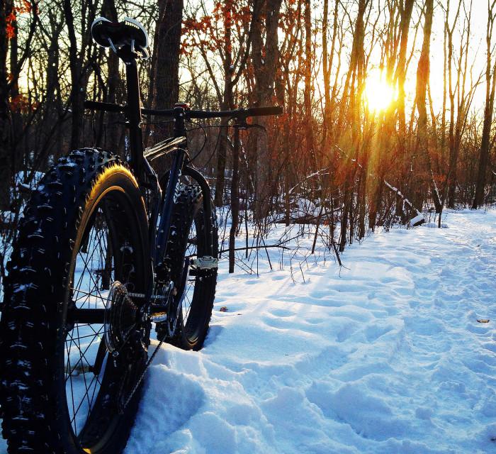 11. Try winter biking!