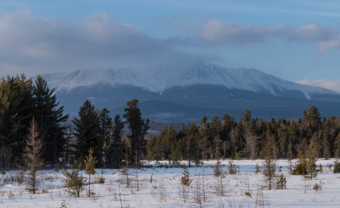 1. With peaks full of snow, Katahdin is absolutely majestic.