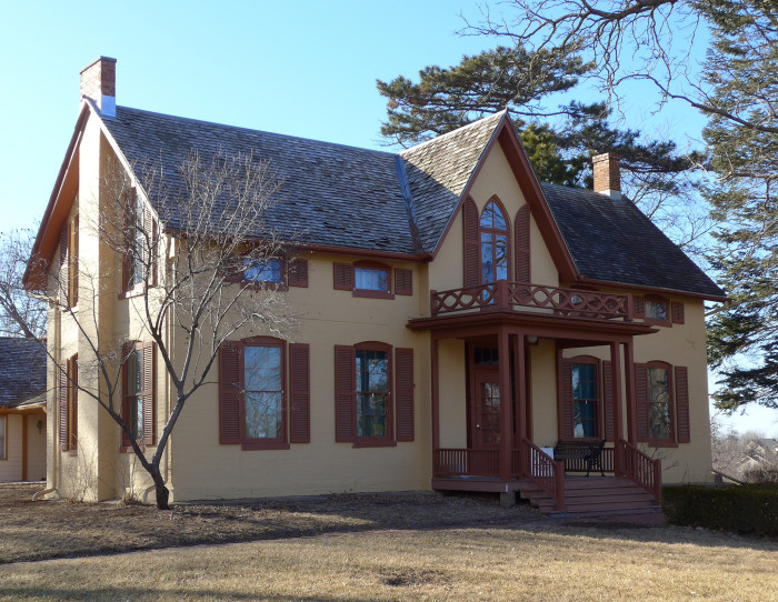 4. The Wildwood House in Nebraska City reminds me of a cozy forest home where magical characters live.