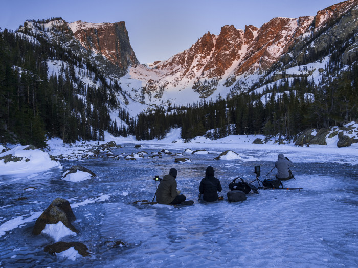 1. Admiring the frozen beauty that is Rocky Mountain National Park.