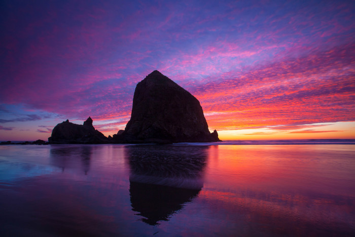 1. A sunset at Cannon Beach by Stefan Klopp.