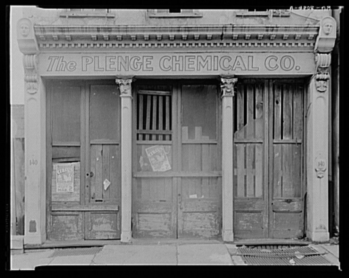 17. A storefront in Charleston's historic district in 1936. No place in the state went unaffected by the Great Depression.