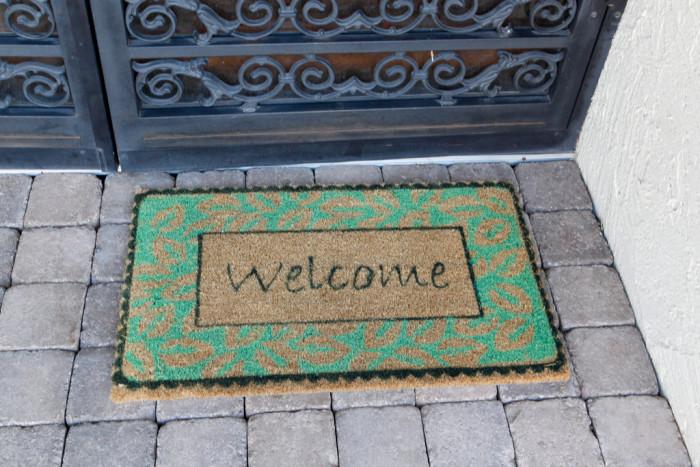 17.A welcome mat.