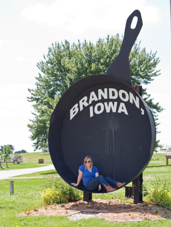 15. Brandon - The World's Largest Frying Pan