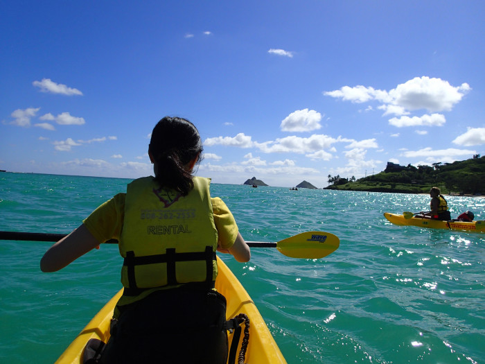 18) Spend the day kayaking on the ocean.