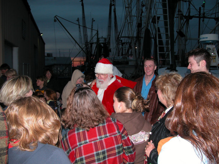 3. We have awesome local traditions, like Santa's shrimp boat visit in Apalachicola.