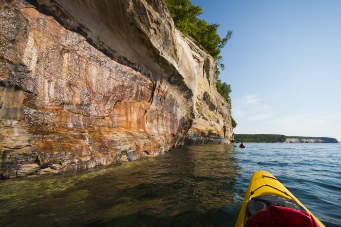 1) Kayak at Pictured Rocks National Lakeshore.