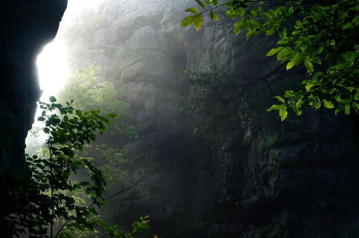 12. A foggy, yet magical shot of Cherokee Rock Village near Gadsden, Alabama.