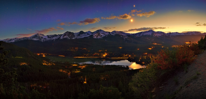 "8. ""Moon (and Venus) over Breckenridge."""