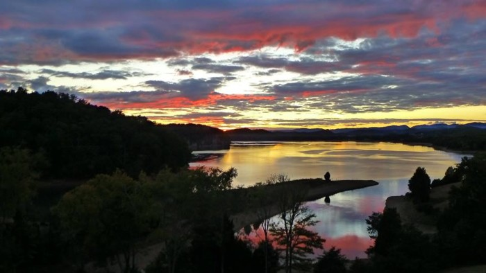 2) A perfect Cherokee Lake sunset