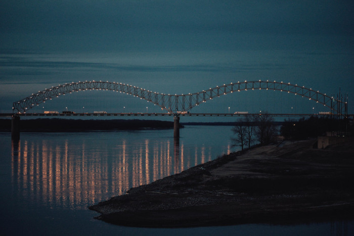 2) Memphis at night