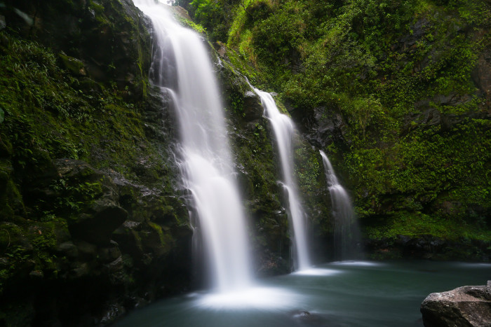 2) Rejoice in the splendor that is one of Hawaii's many brilliant, cascading waterfalls.