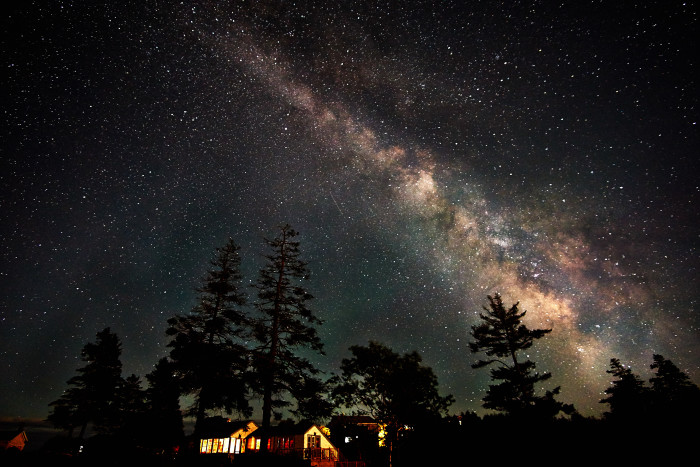 2. Our galaxy looking down on Horn Hill near Mexico, Maine.