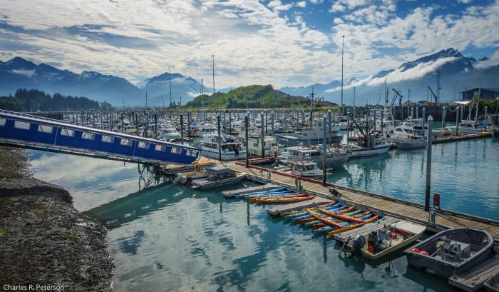 6) A perfect shot of Valdez Harbor.