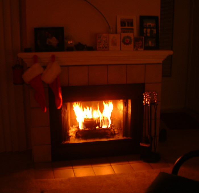 6. Curl up by a cozy fire inside...