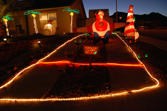 "2. Santa has landed in Henderson! ""Santa's Landing Strip"" is such a fun and unique Christmas decoration. LOVE IT!!!"