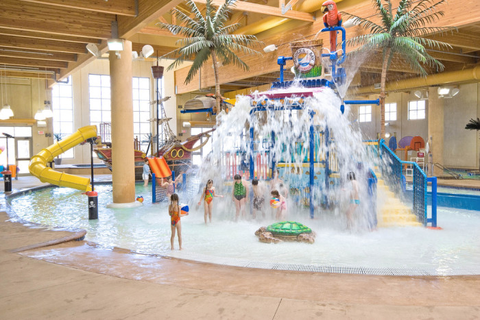 2. Have a day of fun splashing around at the waterpark.