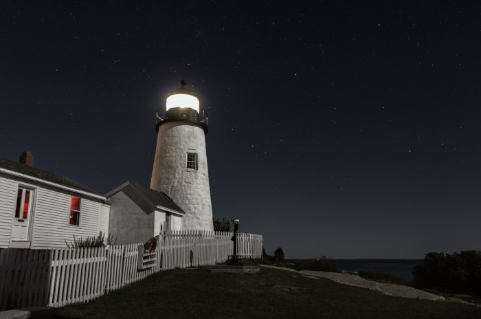 1. The perfect night sky over one of the most perfect Maine lights. Pemaquid sparkles with the help of the universe.
