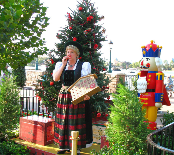 5. If you're a little more adventurous, you can visit Epcot to learn about holiday traditions all over the world.