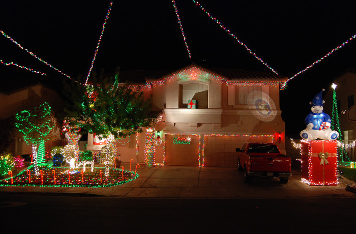 4. What a beautifully decorated house! So tastefully done! I wonder what's in the red package...