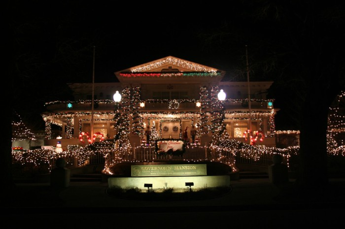 4. Governor's Mansion Christmas Lights - Carson City