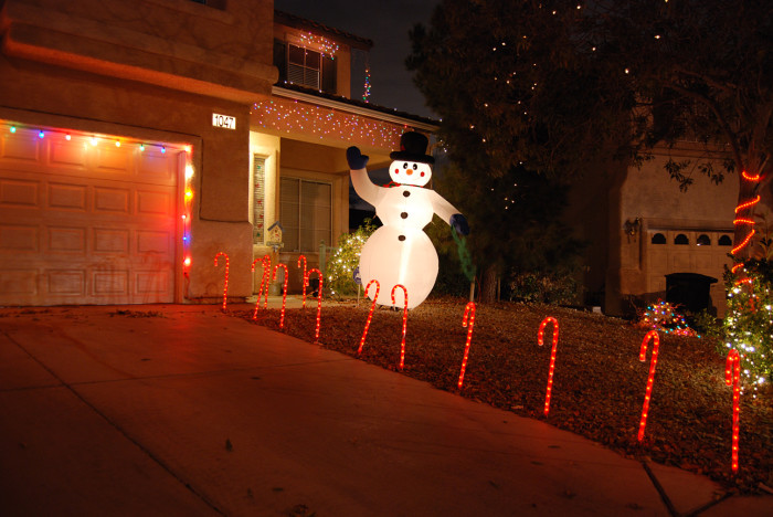 "10. Frosty the Snowman, from Henderson, is waving, ""Merry Christmas!"""