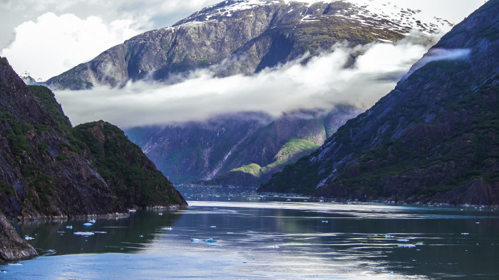12) The entry to Tracy Arm Fjord.
