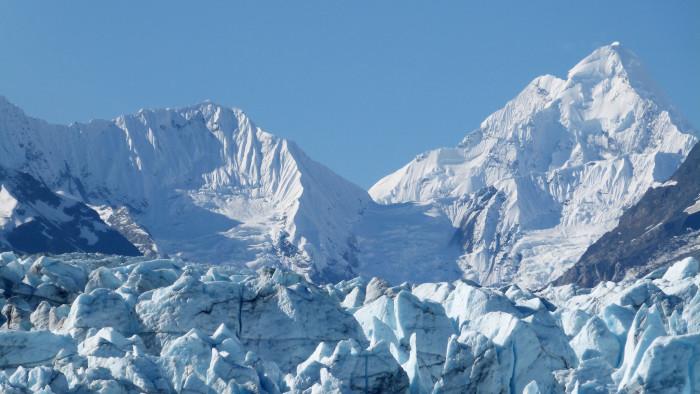 9) Glacier Bay on a blue bird day.