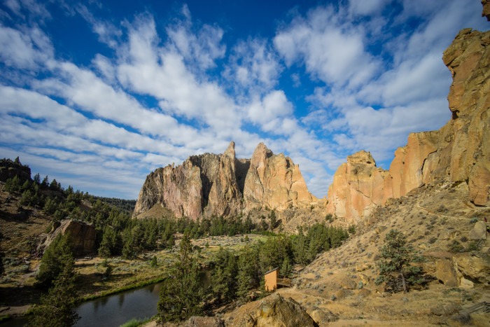 1. Go hiking or rock climbing at Smith Rock.