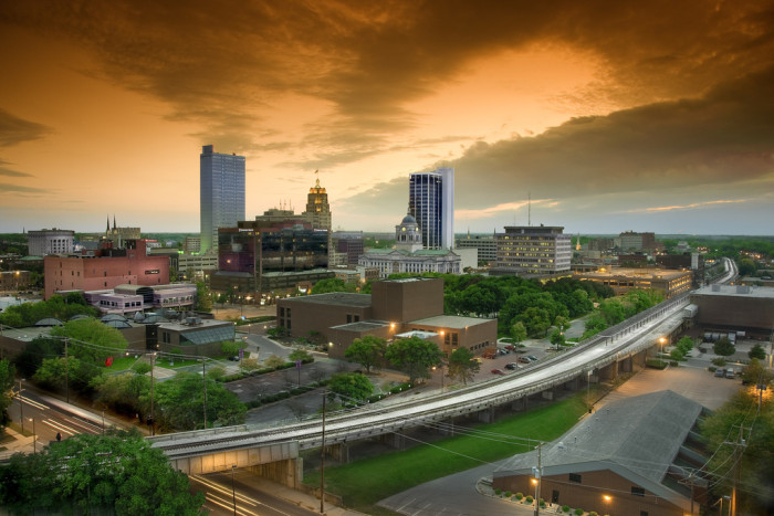 2. The Fort Wayne skyline is hard to look away from.