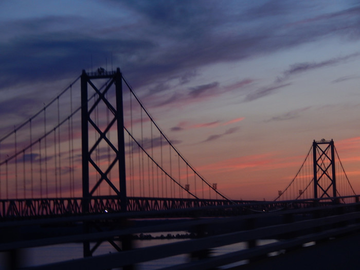 14) Safe travels across the bridge to visit family.