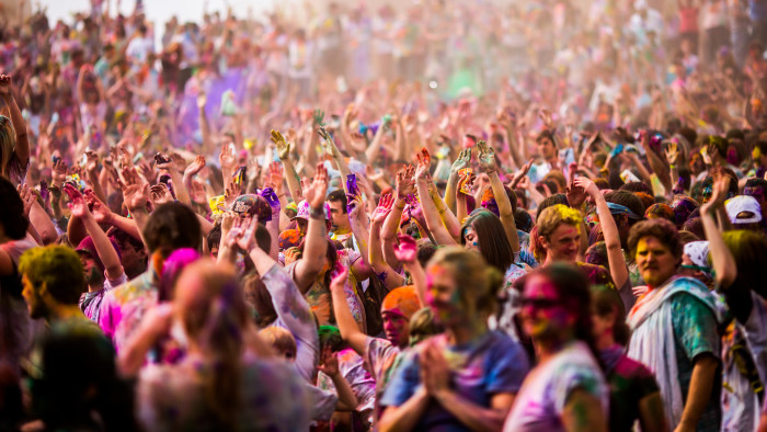 11. Participate in One of the World's Largest Color Festivals