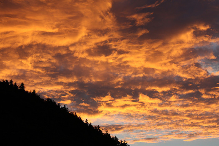 18.  Lovely golden clouds.