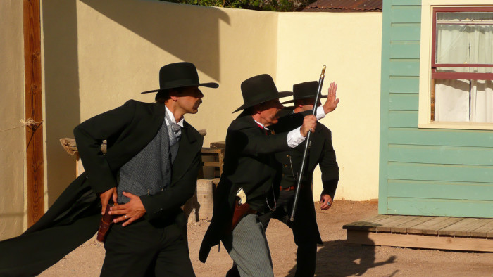 3. A Tombstone reenactment got a little too real in October when an actor used live ammunition, shooting two people.