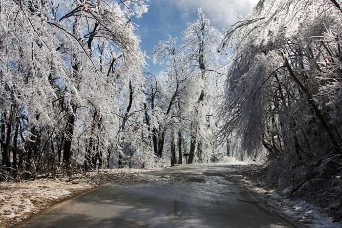 9. Winter road.