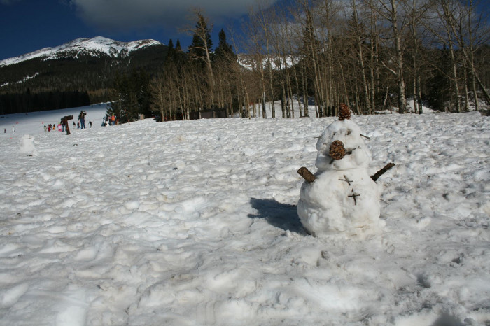 5. Why, yes, we Arizonans can certainly make an actual snowman on the Rim or in Flagstaff.