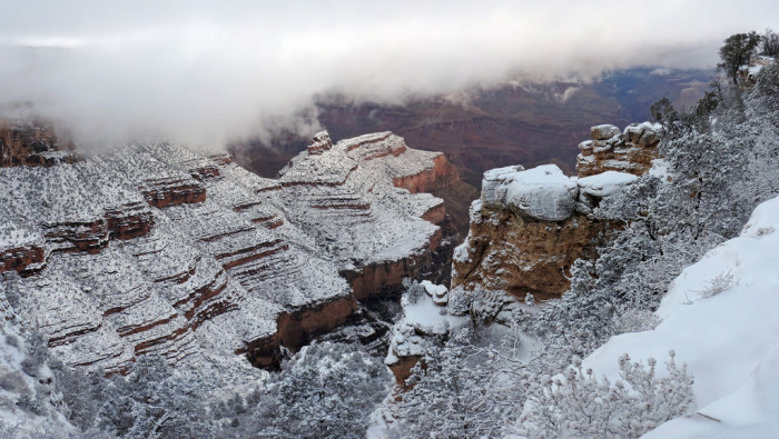 3. For an epic winter trip, spending a day or two at the Grand Canyon can be absolutely perfect.