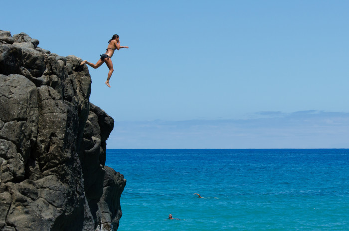 24) Jump off a cliff – only if you are a strong swimmer.