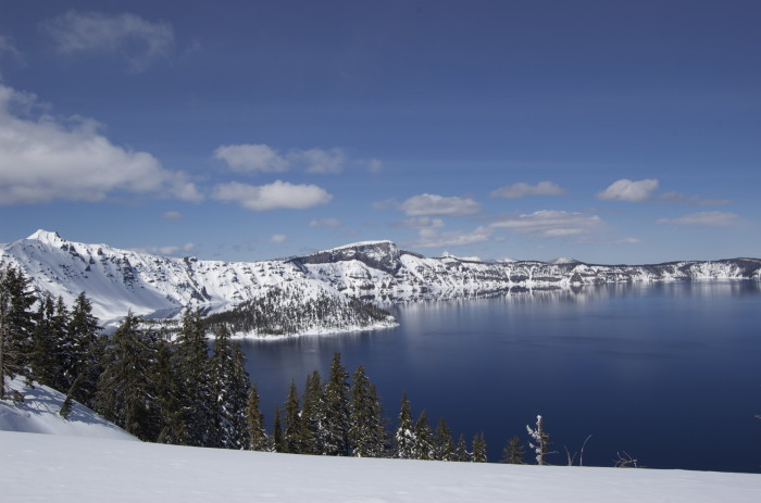 6. Crater Lake in the winter.