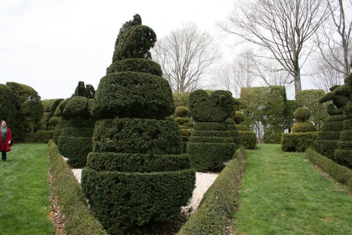 9) Take a stroll through the Ladew Topiary Gardens.