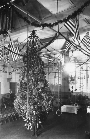 "3. ""Denver Fire Station on Christmas Eve"" (1890)."