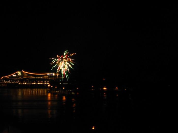 4) Cruise Ship Firework Shows
